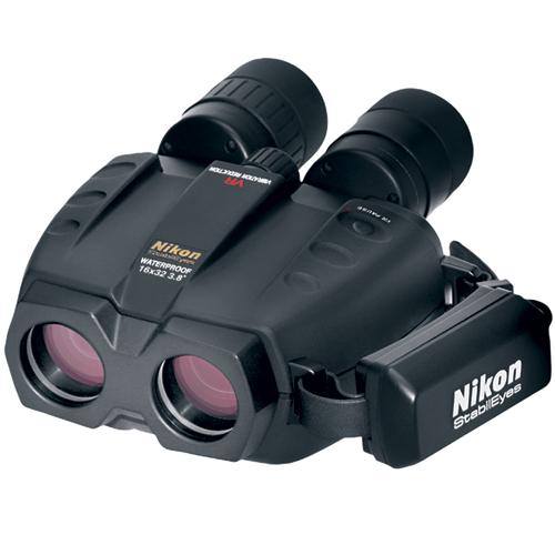 Nikon StabilEyes 16 x 32 Binoculars, 198' @ 1000yd. Field of View, 15mm Eye Relief, 7 5/16 x 5 13/16 x 3 1/8, 39.5oz.