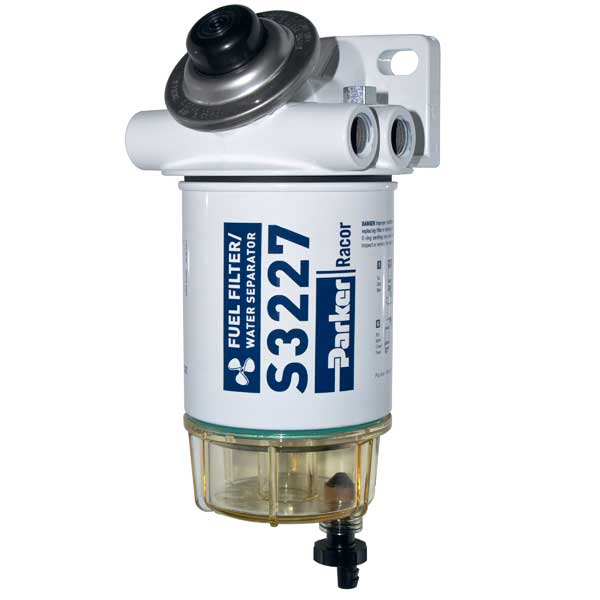 Racor 10 Micron Spin-On Series Fuel Filter/Water Separator - O/B with Prime Sale $142.99 SKU: 8376014 ID# 490R-RAC-01 UPC# 706672014153 :