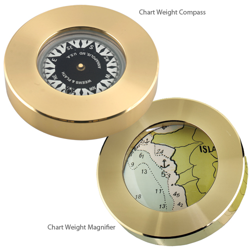 Weems & Plath Brass Chart Weight Magnifier