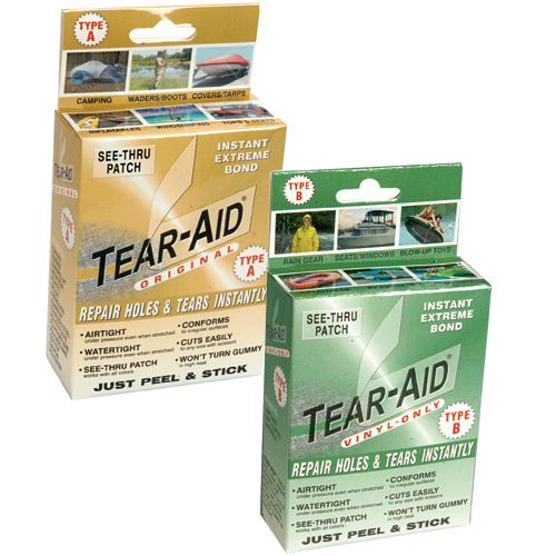 Tear Aid Tear Repair Kit, Inflatable Type A (Hypalon and Other Surfaces)