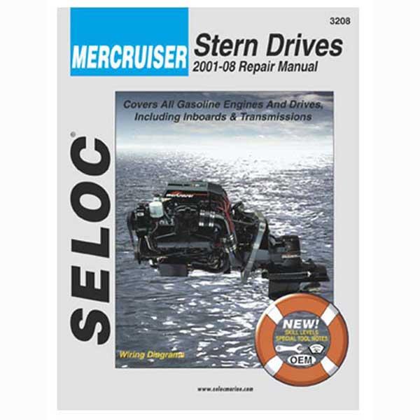 Seloc Marine Repair Manual - MerCruiser Stern Drive, 2001-2008, All gas engines, All HP Sale $37.99 SKU: 8620783 ID# 3208 UPC# 715568032089 :