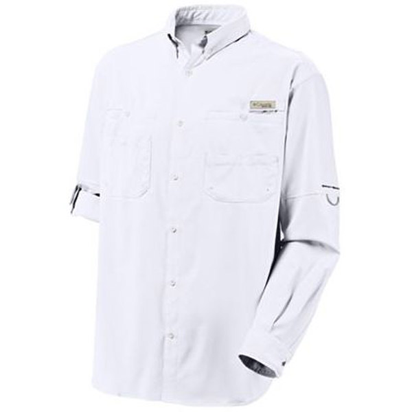 Men's Tamiami II Long-Sleeve Shirt, White, M