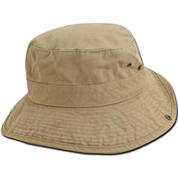 Dorfman Pacific Drawstring Bucket Hat - Kahki/Khaki/black - M Sale $18.99 SKU: 8708505 ID# WMBH71-K/B-1 UPC# 16698114967 :