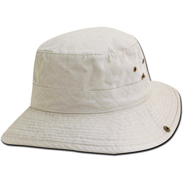Drawstring Bucket Hat - Putty - M