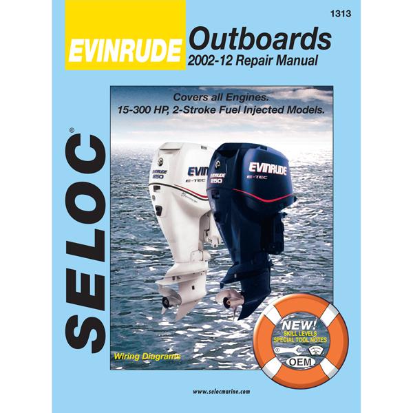 Seloc Marine Repair Manual - 2 Stroke Evinrude O/B, 2001-2012 Sale $37.99 SKU: 8841363 ID# 1313 UPC# 715568013132 :