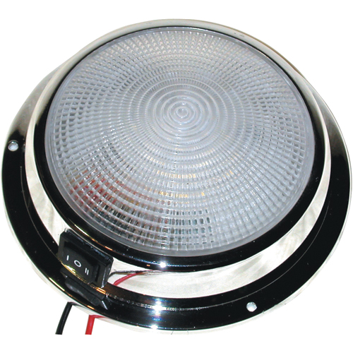 Dr. Led 6-3/4 Dia. Dome Light with Three-Position Switch, White/Red