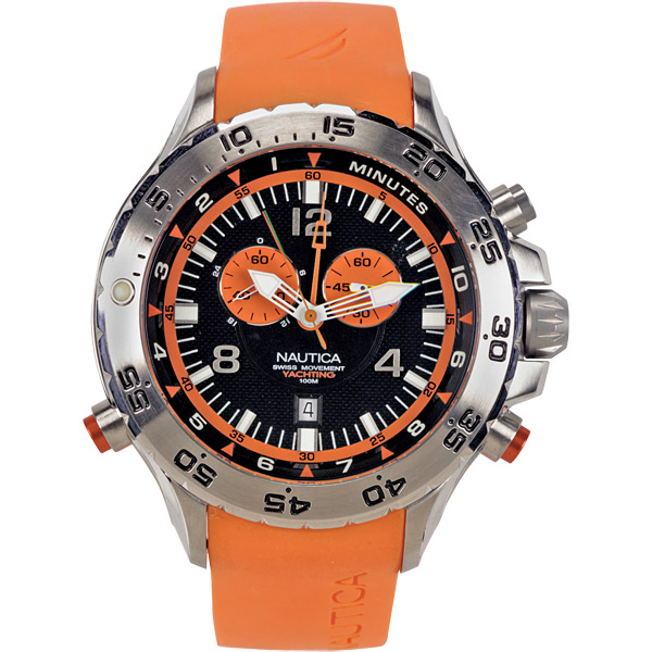 Nautica Men's NST Chrono Watch Orange