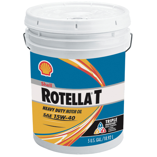 Shell Rotella T SAE 15/40 Engine Oil, 5 Gallons