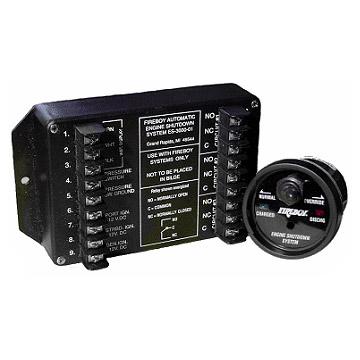 Fireboy Xintex ELS 5-Circuit Automatic Engine Shutdown System, Voltage: 12/24/32V DC; 2A Relays 10µA-2A: 2; 10A Relays 100mA-10A: 1; 30A Relays 100mA-30A: None