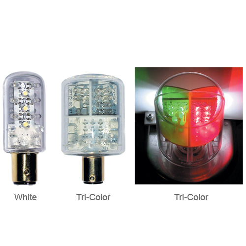 Dr. Led Tri-Color, Aqua Signal tri-color lights, Replaces Aqua Signal #90002; for tri-color stacks