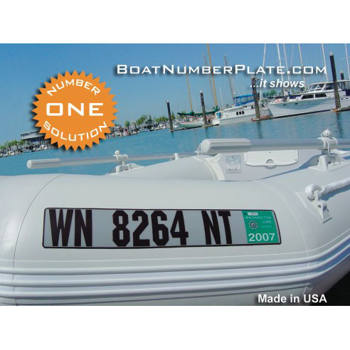 Boatnumberplate Registration Plate Numbering Kit