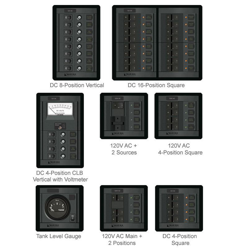 Blue Sea Systems 12V DC Panel, 8-Position, 4.87 x 7.75, 8/15A Circuits Sale $384.99 SKU: 9369075 ID# 1200 UPC# 632085012007 :