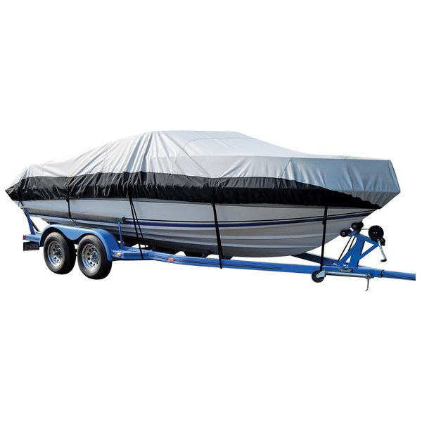 V-Hull Runabout Cover, Gray/Black, Eclipse, 19'0