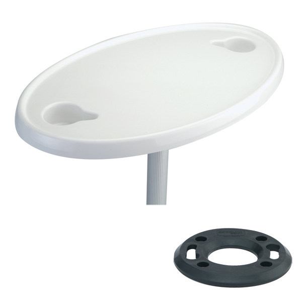 Garelick ABS Oval Table Top with 2 Cup Holders