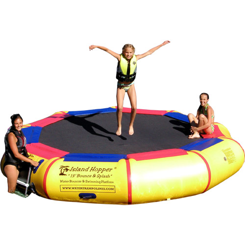 Island Hopper 13' Bounce and Splash water trampoline
