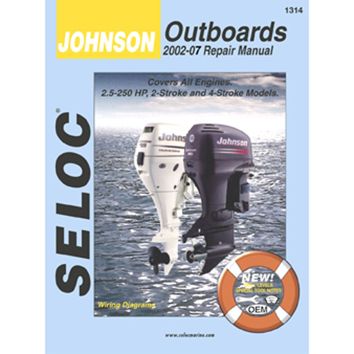 Seloc Marine Repair Manual - Johnson Outboards 2002 - 2007 Sale $37.99 SKU: 9449125 ID# 1314 UPC# 715568013149 :