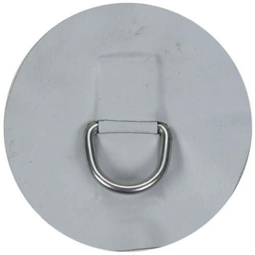 Medium Replacement Patch D-Ring for AL-290 Inflatable Hypalon Sportboat, Light Gray