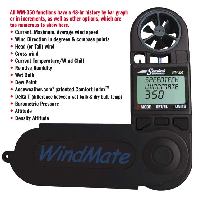 Speedtech Instruments WindMate 350 Windspeed/Direction/Temp/ Barometer/Altimeter