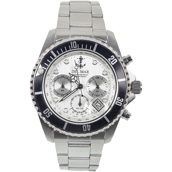 Del Mar Men's Chronograph 200 Watch, White Dial