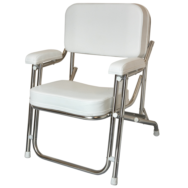 West Marine Kingfish Ii Stainless Steel Folding Deck Chair