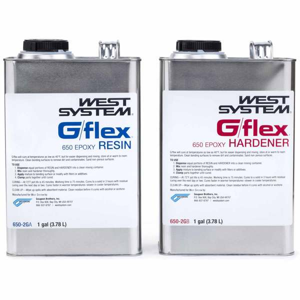 650-2G G/flex Liquid Epoxy, 1gal. resin, 1gal. hardener