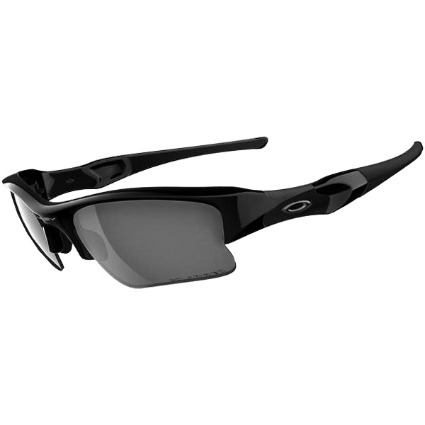 Oakley Polarized Flak Jacket XLJ Sunglasses, Jet Black Frames with Black Iridium Lenses