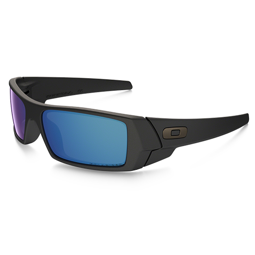 Oakley Gascan Sunglasses, Matte Black/blue Frames with Ice Iridium Polarized Lenses Sale $160.00 SKU: 15232176 ID# 26-244 UPC# 700285856216 :