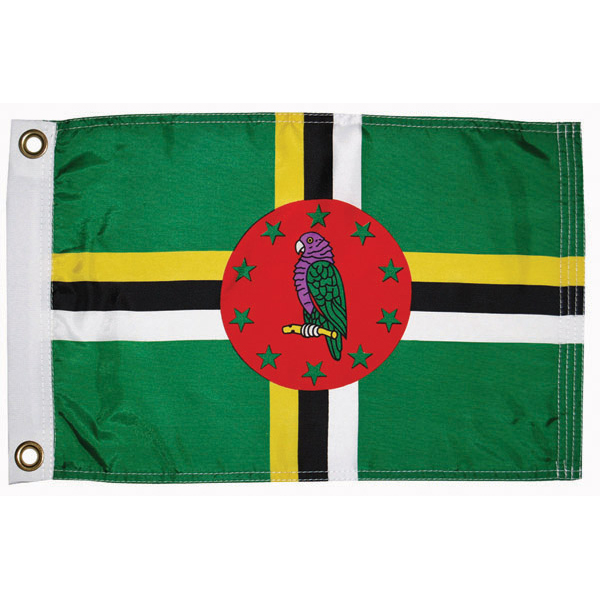 Taylor Made Dominican Courtesy Flag; 12'' X 18''