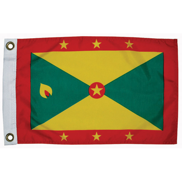 Taylor Made Grenada Courtesy Flag; 12'' X 18''