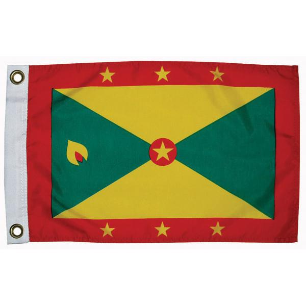 Taylor Made Grenada Courtesy Flag; 12'' X 18''