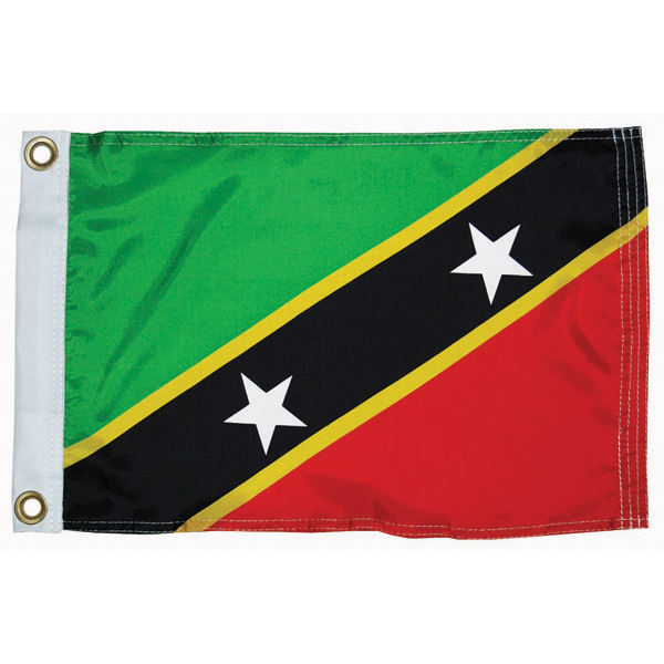 Taylor Made St Kitts Courtesy Flag; 12'' X 18''