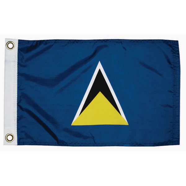 Taylor Made St Lucia Courtesy Flag; 12'' X 18''