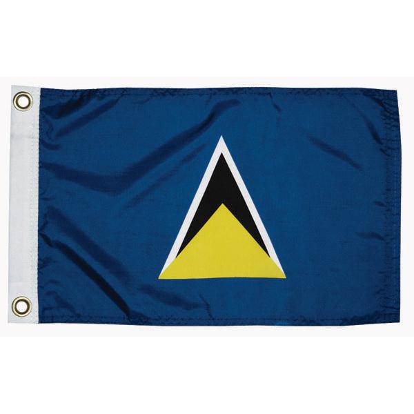 Taylor Made St Lucia Courtesy Flag; 12'' X 18''
