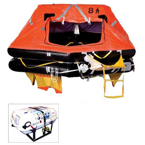 Survitech OceanMaster Life Raft, 8-Person, SOLAS A-Pack, LowPro Container