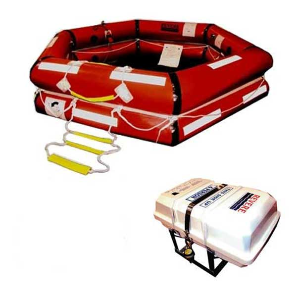 ShoreMaster IBA Life Raft, 6-Person, Container
