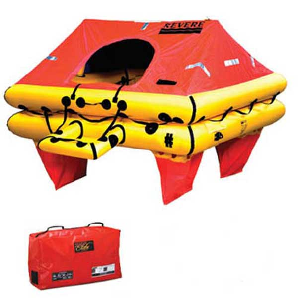 Revere Supply Offshore Elite Life Raft, 6-Person, Valise