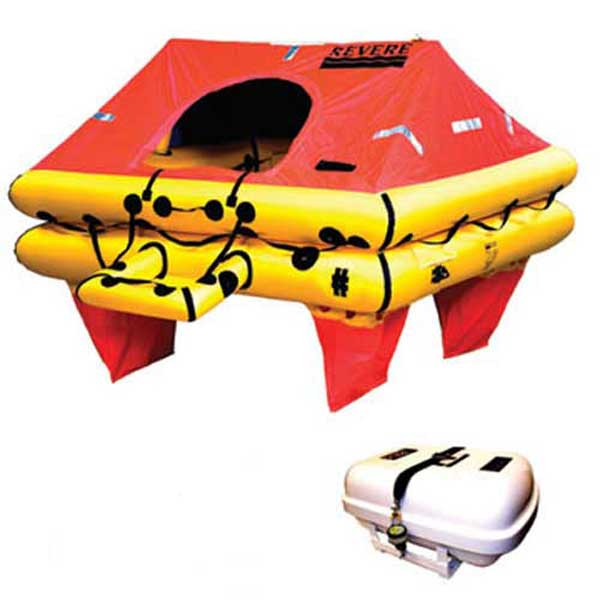 Revere Supply Offshore Elite Life Raft, 8-Person, Container