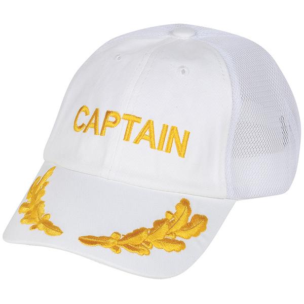 Dorfman Pacific Mesh Captain Baseball Cap White Sale $18.99 SKU: 12962437 ID# WMBC1421-WHT UPC# 16698038157 :