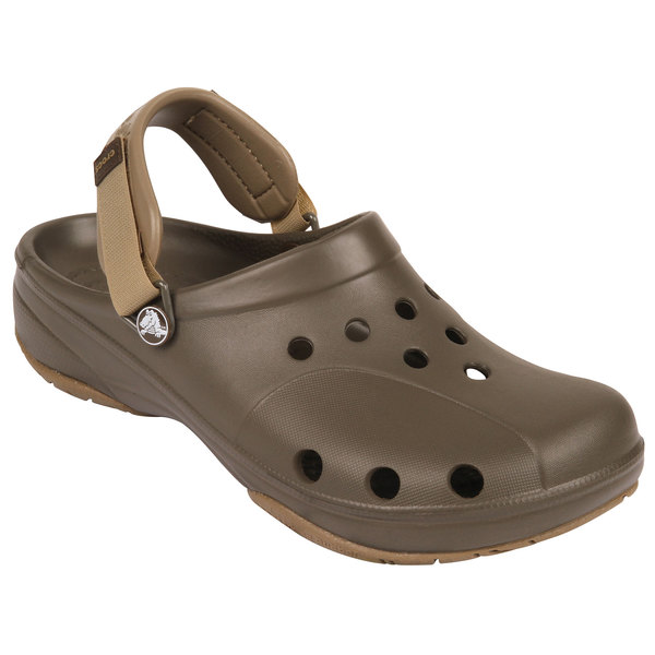 Crocs Men's Ace Boating Shoes Chocolate/khaki