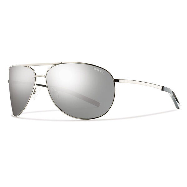 Smith Optics Men's Serpico Sunglasses, Gray Frames with Polarized Platinum Lenses