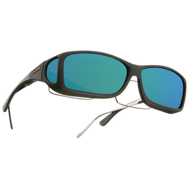 Cocoons Fitover Polarized Sunglasses Black Lenses with Black/green Mirror Mirror Lenses Sale $49.99 SKU: 16283871 ID# C422R UPC# 814484014954 :