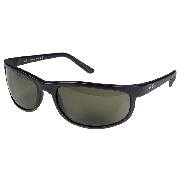 Ray-ban Predator 2 Sunglasses, Black Frames with Polarized Gray Mirror Lenses