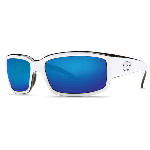 Costa Caballito 580P Sunglasses, White and Black Frames with Blue Mirror Lenses