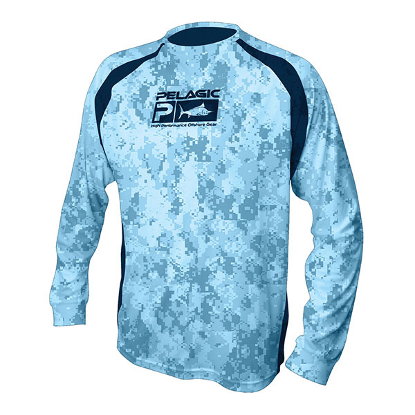 Pelagic men 39 s vaportek long sleeved tee west marine for West marine fishing shirts