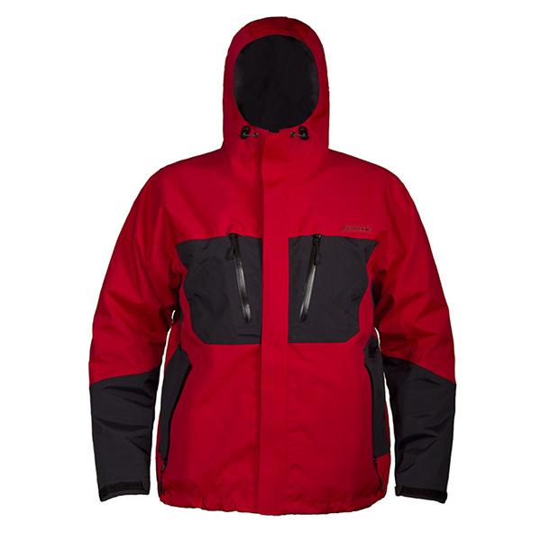 Grundens Men's Gage Burning Daylight Hooded Jacket, Red, 3XL