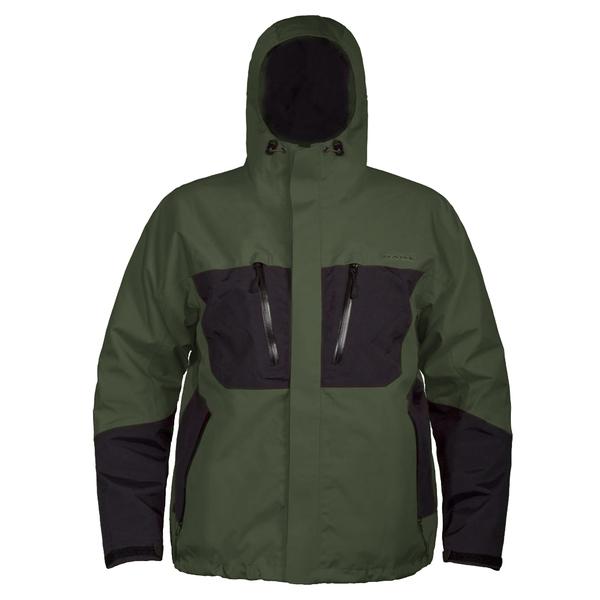 Grundens Men's Gage Burning Daylight Hooded Jacket Green
