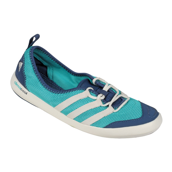 Adidas Women's CLIMACOOL Boat Sleek Shoes Light Blue/navy/gray