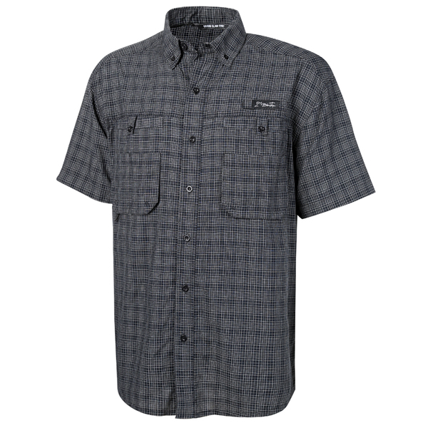 Blacktip Men's Grand Slam Plaid Shirt Black Sale $54.99 SKU: 15839152 ID# BTA22-14-M UPC# 25282171736 :