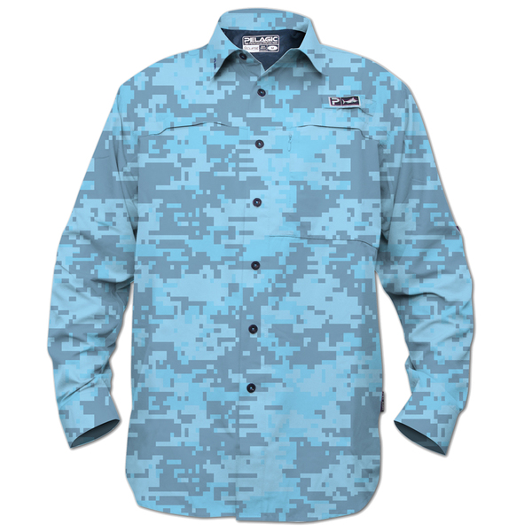 Pelagic Men's Eclipse Guide Long Sleeve Shirt Blue Camo Sale $79.00 SKU: 16237232 ID# 795-LS-BDC-XL UPC# 182206025763 :