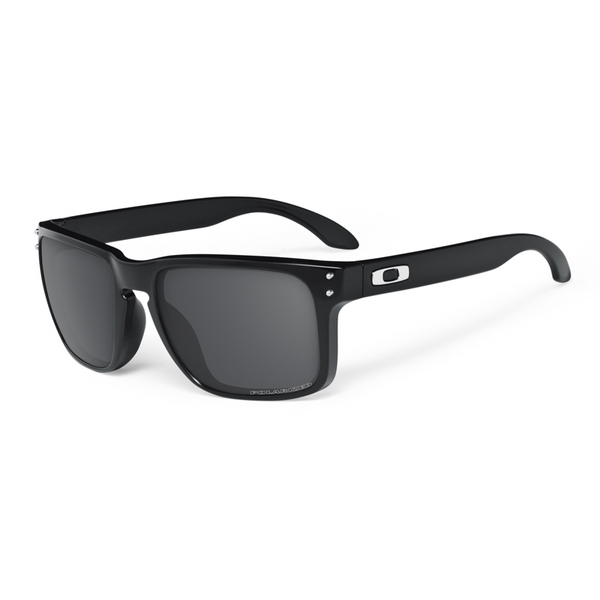 Oakley Eyewear Holbrook Sunglasses, Polished Black/gray Frames with Gray Polarized Lenses